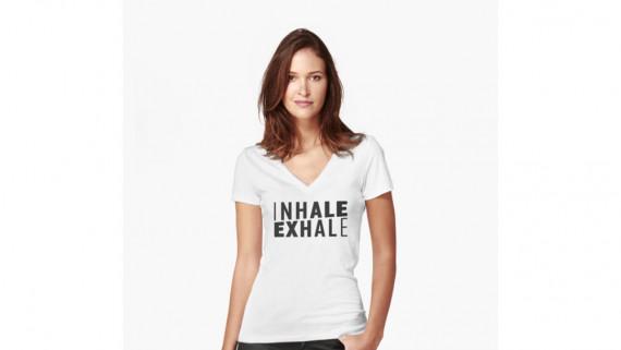 inhale exhale, breathe, mindfulness, mediation, deep breath, revolution australia, australia shirts, women's shirt