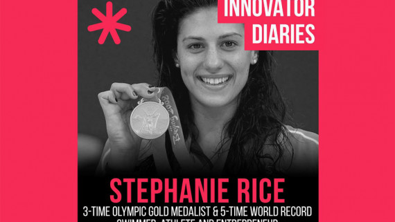 Stephanie Rice, Australian athlete, Olympic medalist, world record holder swimming, professional swimmer, Innovator Diaires, Australian podcast, podcast episode, innovators