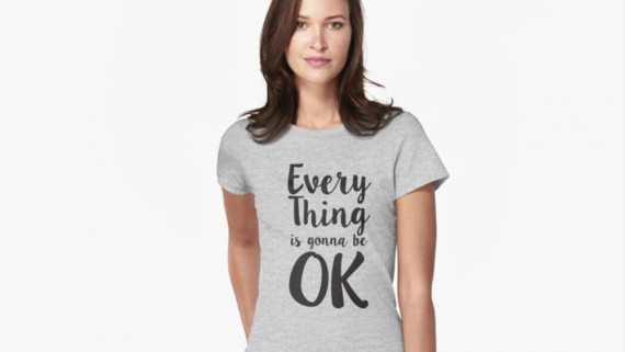 Everything is gonna be ok, Australian t-shirt, aussie shirt, Revolution Australia, Fitted T-shirt, chill out shirts, yoga shirt, travel shirt