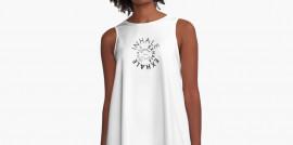 Inhale, Exhale, A-Line Dress, Comfy Dress, Gift for Women, Minimalist Fashion, Minimalist, Local Business, Revolution Australia, Aussie Design