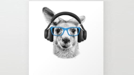 Kangaroo, Funny, funny kangaroo, wall art, minimalist, Revolution Australia, Aussie, Aussie design, Innovator Diaries, TIPS, Australian podcast