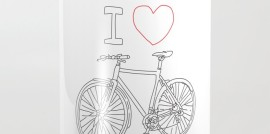 I heart bike, love bike, cycling, riding bikes, outdoors, Aussie lifestyle, Revolution Australia, Aussie design, minimalist, for him, for her, white