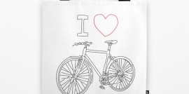 I Heart Bike, Tote Bag, Revolution Australia, Aussie design, tote bag, errands bag, beach bag, lightweight, durable, for him, for her