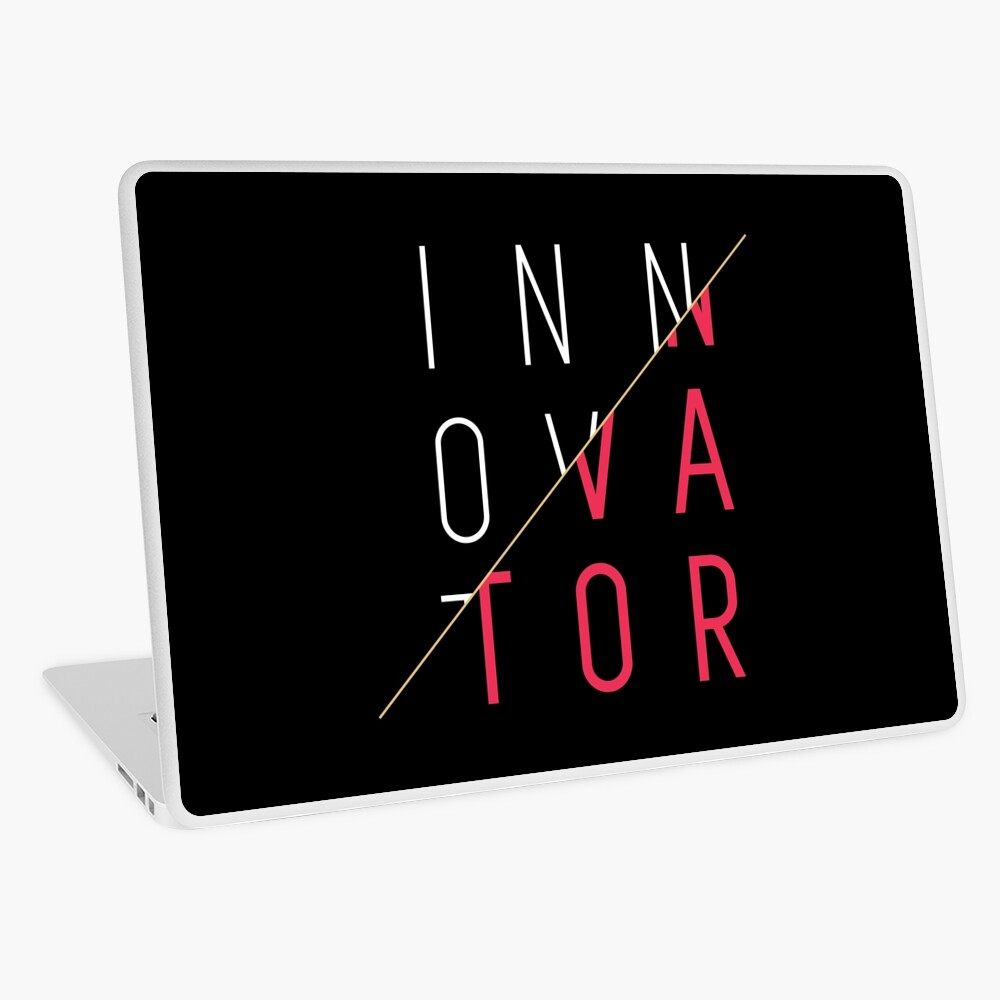 Innovator, Laptop Skin, innovator diaries, minimalist, for him, for her, techie gifts, gift ideas, innovation, creativity, immagination